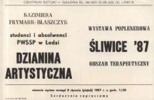 Wystawa poplenerowa: Obszar Terapeutyczny: Śliwice '87 - zaproszenie