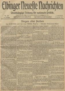 Elbinger Neueste Nachrichten, Nr. 24 Freitag 25 Januar 1913 65. Jahrgang