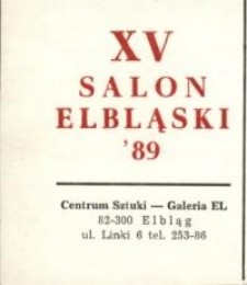 XV Salon Elbląski '89 – zaproszenie na wystawę