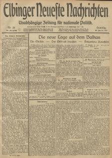Elbinger Neueste Nachrichten, Nr. 25 Sonntag 26 Januar 1913 65. Jahrgang