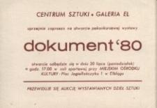 Dokument '80 – zaproszenie na wystawę