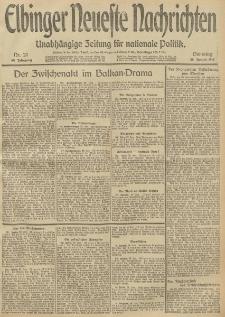 Elbinger Neueste Nachrichten, Nr. 27 Dienstag 28 Januar 1913 65. Jahrgang