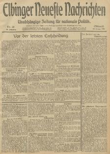 Elbinger Neueste Nachrichten, Nr. 28 Mittwoch 29 Januar 1913 65. Jahrgang