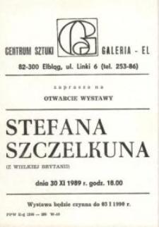 Stefan Szczelkun w Galerii EL – zaproszenie na wystawę