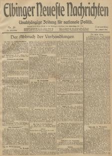 Elbinger Neueste Nachrichten, Nr. 29 Donnerstag 30 Januar 1913 65. Jahrgang