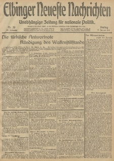 Elbinger Neueste Nachrichten, Nr. 30 Freitag 31 Januar 1913 65. Jahrgang