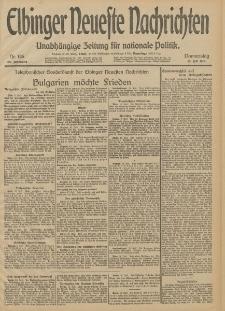 Elbinger Neueste Nachrichten, Nr. 186 Donnerstag 10 Juli 1913 65. Jahrgang