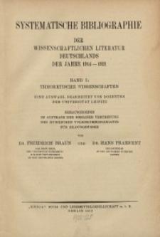 Bd. 1 : Theoretische Wissenschaften