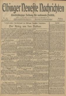 Elbinger Neueste Nachrichten, Nr. 194 Freitag 18 Juli 1913 65. Jahrgang