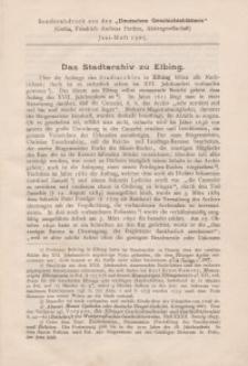 Das Stadtarchiv zu Elbing