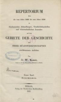 Bd. 1 : Geschichte