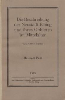 Die Beschreibung der Neustadt Elbing und ihres Gebietes im Mittelalter