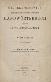 Hebräisches und chaldäisches Handwörterbuch über das Alte Testament, Volume 1