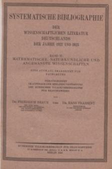 Bd. 2 : Mathematische, naturkundliche und angewandte Wissenschaften