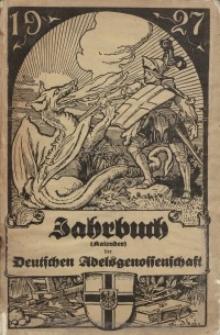 Kalender der Deutschen Adelsgenossenschaft, J. 1927