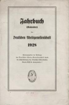 Kalender der Deutschen Adelsgenossenschaft, J. 1928