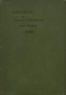 Zeitschrift des Deutschen und Österreichischen Alpenvereins, Jahrgang 1898, Bd.XXIX