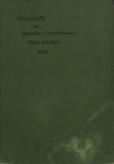Zeitschrift des Deutschen und Österreichischen Alpenvereins, Jahrgang 1903, Bd.XXXIV