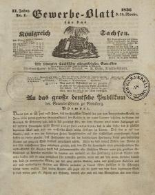 Gewerbe-Blatt Königreich Sachsen. Jahrg. II, 10. November, nr 1.