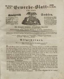 Gewerbe-Blatt Königreich Sachsen. Jahrg. II, 15. Dezember, nr 6.