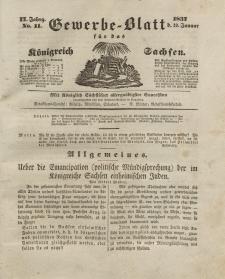 Gewerbe-Blatt Königreich Sachsen. Jahrg. II, 19. Januar, nr 11.
