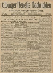 Elbinger Neueste Nachrichten, Nr. 203 Sonntag 27 Juli 1913 65. Jahrgang