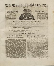 Gewerbe-Blatt Königreich Sachsen. Jahrg. II, 20. April, nr 24.