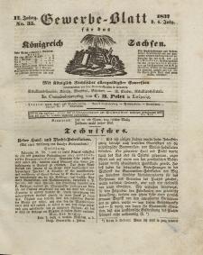 Gewerbe-Blatt Königreich Sachsen. Jahrg. II, 6. Juli, nr 35.