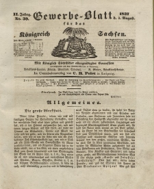 Gewerbe-Blatt Königreich Sachsen. Jahrg. II, 3. August, nr 39.