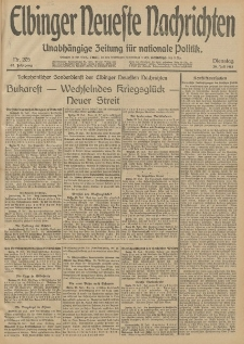 Elbinger Neueste Nachrichten, Nr. 205 Dienstag 29 Juli 1913 65. Jahrgang
