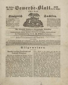 Gewerbe-Blatt Königreich Sachsen. Jahrg. II, 14. September, nr 45.