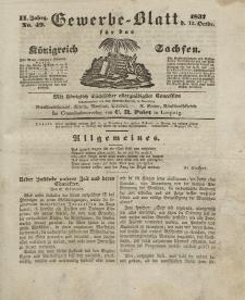 Gewerbe-Blatt Königreich Sachsen. Jahrg. II, 12. Oktober, nr 49.