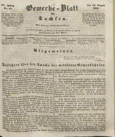 Gewerbe-Blatt für Sachsen. Jahrg. IV, 29. August, nr 35.