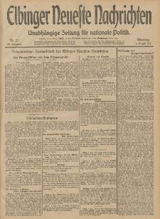 Elbinger Neueste Nachrichten, Nr. 211 Montag 4 August 1913 65. Jahrgang