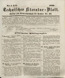 Gewerbe-Blatt für Sachsen. Jahrg. IV, 17. Oktober, nr 42 (Beilage nr 5/6: Technisches Literatur-Blatt)