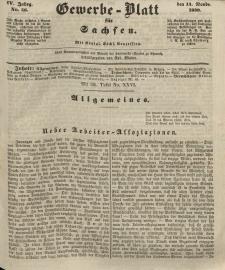 Gewerbe-Blatt für Sachsen. Jahrg. IV, 14. November, nr 46.