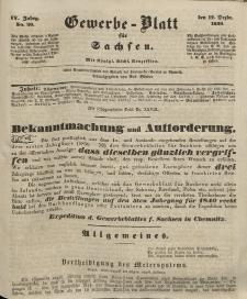 Gewerbe-Blatt für Sachsen. Jahrg. IV, 12. Dezember, nr 50.
