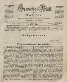 Gewerbe-Blatt für Sachsen. Jahrg. V, 30. Januar, nr 5.