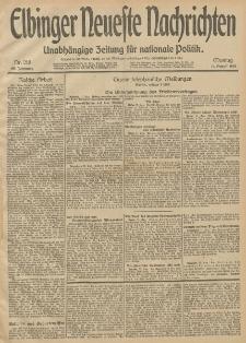 Elbinger Neueste Nachrichten, Nr. 218 Montag 11 August 1913 65. Jahrgang