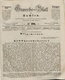 Gewerbe-Blatt für Sachsen. Jahrg. V, 14. Mai, nr 20.