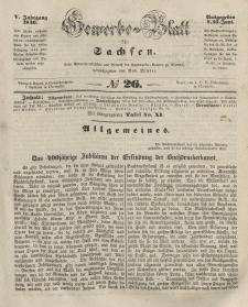 Gewerbe-Blatt für Sachsen. Jahrg. V, 25. Juni, nr 26.