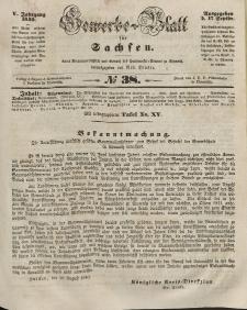 Gewerbe-Blatt für Sachsen. Jahrg. V, 17. September, nr 38.