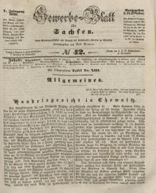 Gewerbe-Blatt für Sachsen. Jahrg. V, 15. Oktober, nr 42.