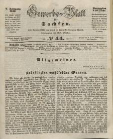 Gewerbe-Blatt für Sachsen. Jahrg. V, 29. Oktober, nr 44.