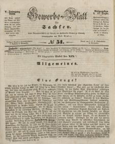 Gewerbe-Blatt für Sachsen. Jahrg. V, 17. Dezember, nr 51.