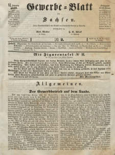 Gewerbe-Blatt für Sachsen. Jahrg. VI, 12. Januar, nr 2.