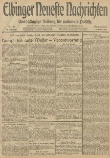 Elbinger Neueste Nachrichten, Nr. 31 Sonnabend 1 Februar 1913 65. Jahrgang