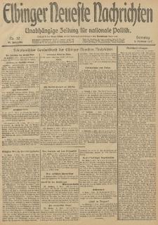 Elbinger Neueste Nachrichten, Nr. 32 Sonntag 2 Februar 1913 65. Jahrgang