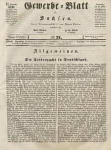 Gewerbe-Blatt für Sachsen. Jahrg. VI, 19. März, nr 21.