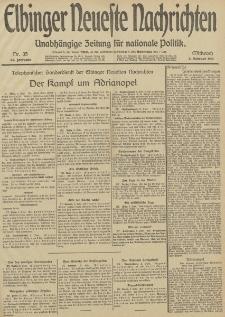 Elbinger Neueste Nachrichten, Nr. 35 Mittwoch 5 Februar 1913 65. Jahrgang